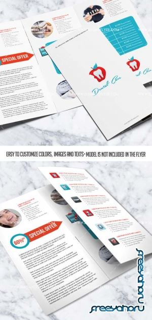 Dental V10 2018 Tri-Fold Brochure PSD Template