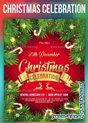 Christmas Celebration V39 2018 Flyer PSD Template + Instagram template