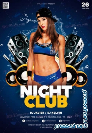 Night Club V77 2018 PSD Flyer Template