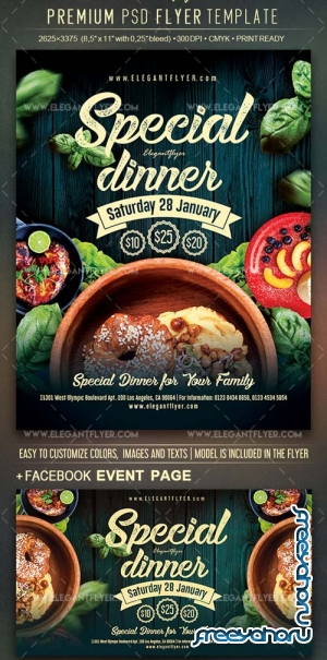 Special Dinner V1 2019 Flyer PSD Template