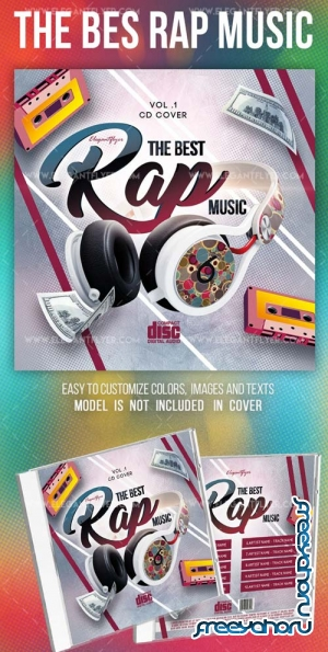 The Bes Rap Music V1 2019 Premium CD Cover PSD Template