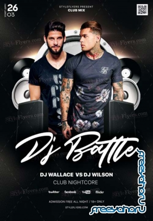 Dj Battle V1 2019 PSD Flyer Template