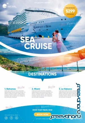Sea Cruise V2 2019 PSD Flyer Template