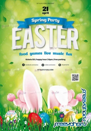 Easter V1 2019 PSD Flyer Template