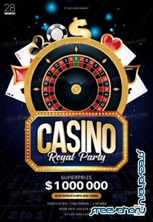 Casino V6 2019 PSD Flyer Template