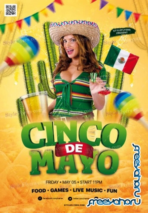 Cinco De Mayo V7 2019 PSD Flyer Template