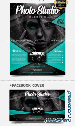 Photo Studio V5 2019 PSD Flyer Template + Facebook Cover + Instagram Post