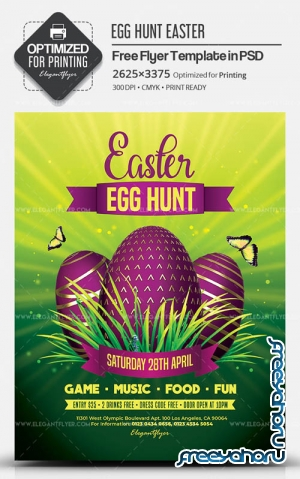 Egg Hunt Easter V6 2019 Flyer PSD Template