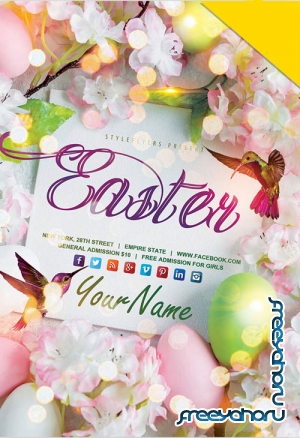 Easter Poster V17 2019 PSD Flyer Template