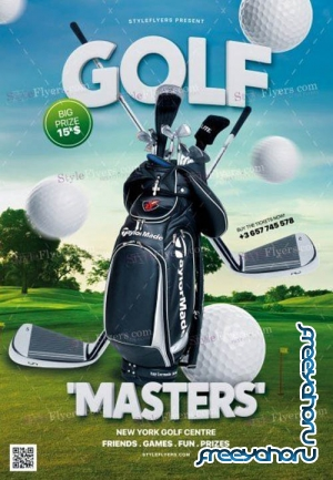Golf Masters 2019 PSD V1 Flyer Template