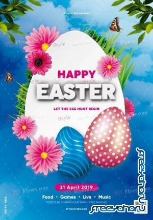 Easter V18 2019 PSD Flyer Template