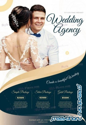 Wedding Agency V12 2019 PSD Flyer Template