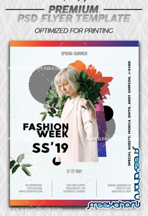 Fashion Week V3 2019 Flyer Template in PSD