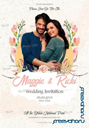 Wedding Invintation V10 2019 PSD Flyer Template