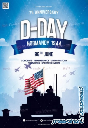 D-Day V1 2019 PSD Flyer Template