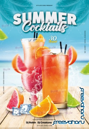 Summer Cocktails V5 2019 PSD Flyer Template