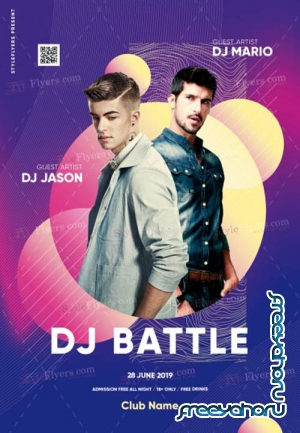 Dj Battle V12 2019 PSD Flyer Template