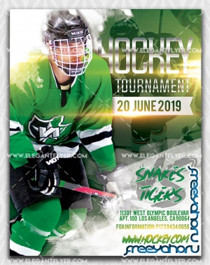 Hockey Tournament V7 2019 Premium Flyer Template in PSD