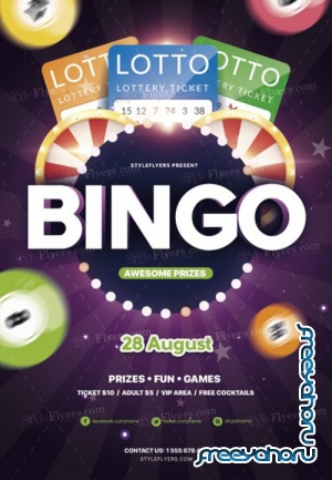 Bingo V9 2019 PSD Flyer Template