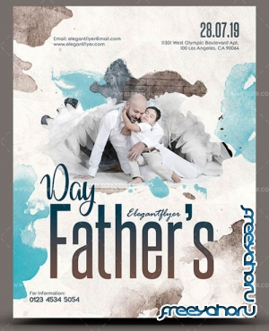 Fathers Day V30 2019 3rd Sunday of June Premium PSD Flyer Template