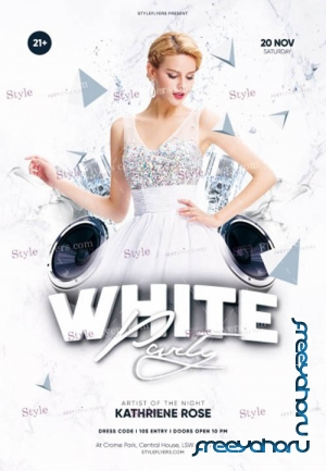 White Party V30 2019 PSD Flyer Template