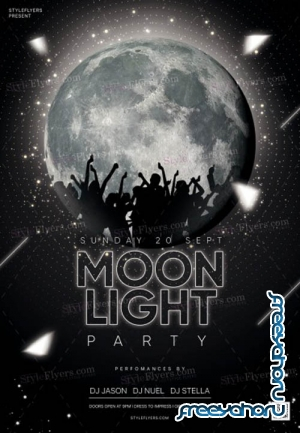 Moonlight Party V1 2019 PSD Flyer Template