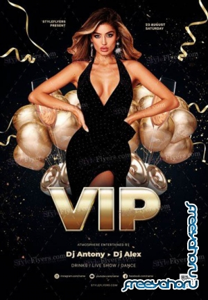 VIP Party V16 2019 PSD Flyer Template