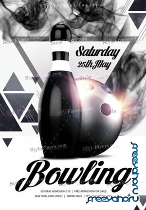 Bowling V14 2019 PSD Flyer Template