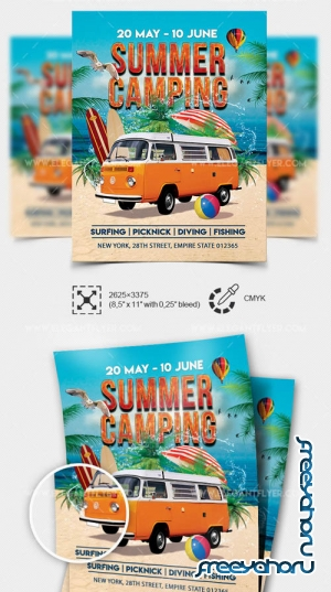 Summer Camping V1208 2019 Flyer Template in PSD