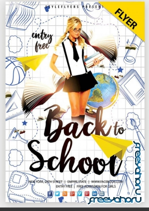 Back To School PSD V1308 2019 Flyer PSD Template