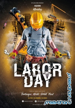Labor Day V2208 2019 PSD Flyer Template