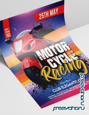 Motorcycle Racing V2208 2019 Premium PSD Flyer Template