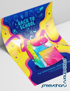 Back To School Party V2208 2019 PSD Flyer Template