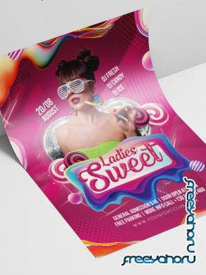 Sweet Ladie's Night V2208 2019 Premium PSD Flyer Template