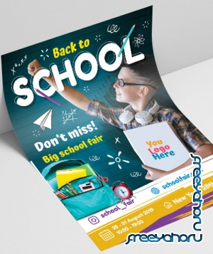 Back to School V2508 2019 Premium PSD Flyer Template