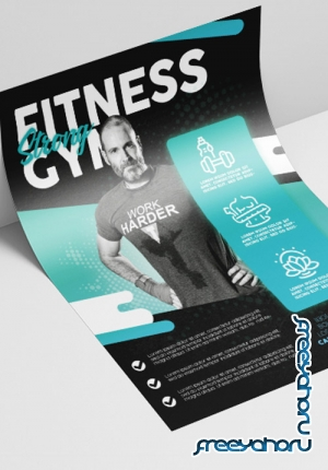 Professional GYM V2208 2019 Premium PSD Flyer Template