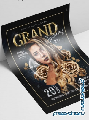 Grand Opening V2208 2019 Premium PSD Flyer Template