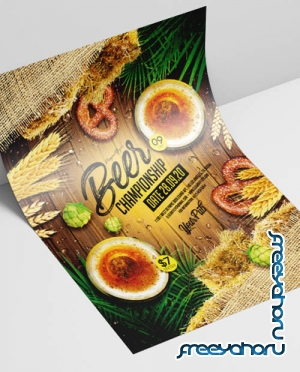 Beer Championship V2908 2019 PSD Flyer Template