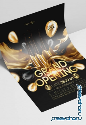 Grand Opening V2908 2019 PSD Flyer Template