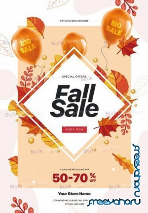Fall Sale V1709 2019 PSD Flyer Template