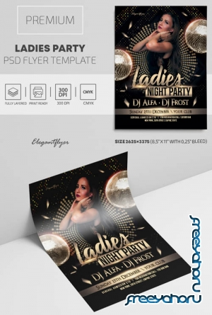 Ladies Party V2309 2019 Premium PSD Flyer Template