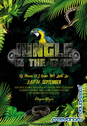 Jungle in the Club V0310 2019 PSD Flyer Template