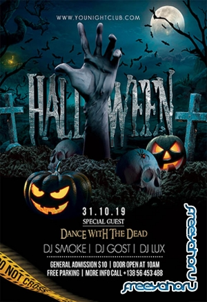 Halloween V03101 2019 Premium PSD Flyer Template
