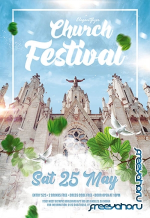 Church Festival V0210 2019 Premium PSD Flyer Template