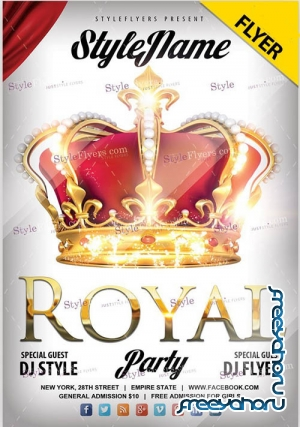 Royal party V1810 2019 PSD Flyer Template