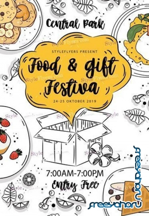 Food & gift festival V3010 2019 PSD Flyer Template