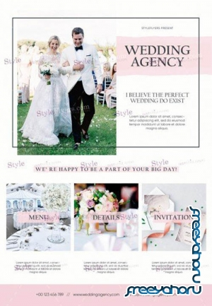 Wedding Agency V3010 2019 PSD Flyer