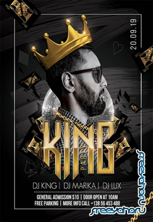 King Party V3110 2019 Premium PSD Flyer Template
