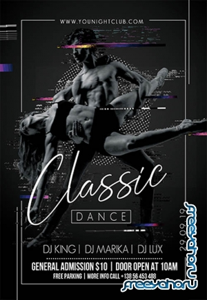 Classic Dance V3110 2019 Premium PSD Flyer Template