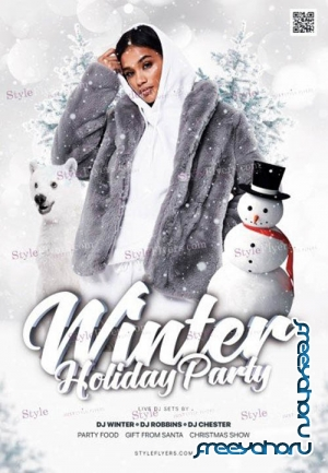 Winter Holiday V0911 2019 Party PSD Flyer